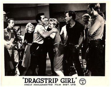 Dragstrip-Girl-1957-original-lobby-card-Frank-Gorshin